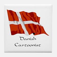 Danish Cartoonist Tile Coaster