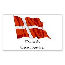 Danish Cartoonist Rectangle Decal