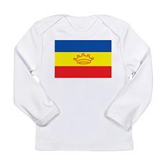 Andorra French Flag Long Sleeve Infant T-Shirt