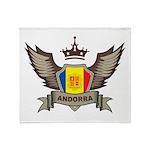 Andorra Emblem Throw Blanket