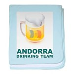 Andorra Drinking Team baby blanket