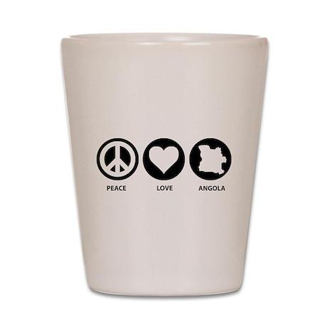 Peace Love Angola Shot Glass