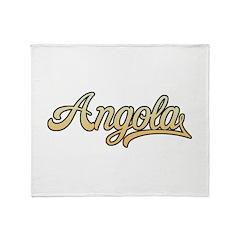Retro Angola Throw Blanket