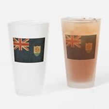 Vintage Anguilla Flag Pint Glass