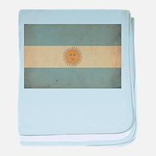 Vintage Argentina Flag baby blanket