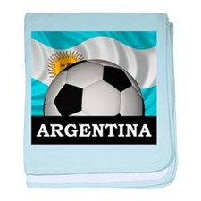 Football Argentina baby blanket
