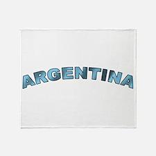 Curve Argentina Throw Blanket