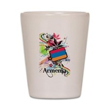Flower Armenia Shot Glass