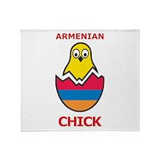 Armenian Chick Throw Blanket