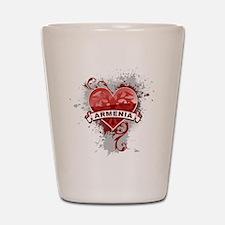 Heart Armenia Shot Glass
