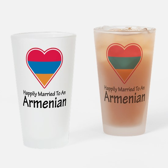 Happily Married Armenian Pint Glass