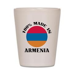 100% Made In Armenia Shot Glass
