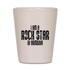 Rock Star In Armenia Shot Glass