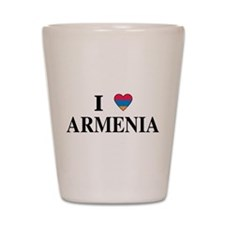 I Heart Armenia Shot Glass