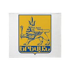 Yerevan Coat Of Arms Throw Blanket