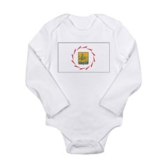 Yerevan Flag Long Sleeve Infant Bodysuit
