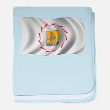 Wavy Yerevan Flag baby blanket
