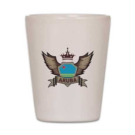 Aruba Emblem Shot Glass