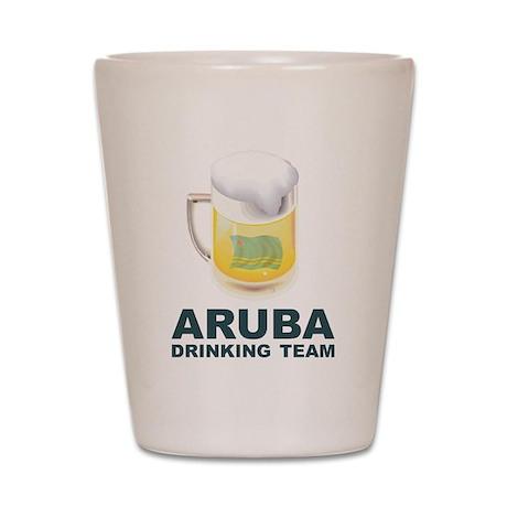 Aruba Drinking Team Shot Glass