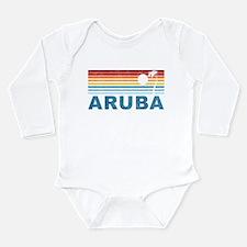Retro Palm Tree Aruba Onesie Romper Suit