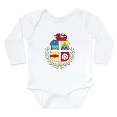 Aruba Coat Of Arms Long Sleeve Infant Bodysuit