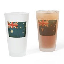 Vintage Australia Flag Pint Glass