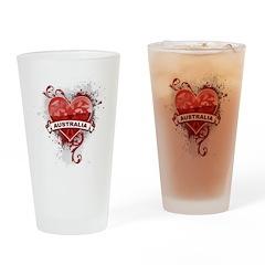Heart Australia Pint Glass