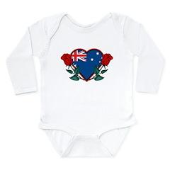 Heart Australia Long Sleeve Infant Bodysuit