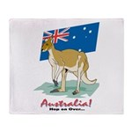 Australia Kangaroo Throw Blanket