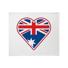 Love Australia Throw Blanket