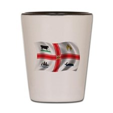 Wavy Melbourne Flag Shot Glass