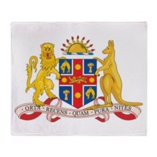 New South Wales Coat Of Arms Throw Blanket