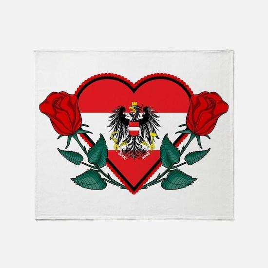 Heart Austria Throw Blanket