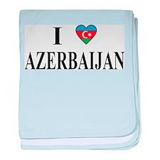I Love Azerbaijan baby blanket