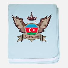 Azerbaijan Emblem baby blanket