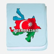 Map Of Azerbaijan baby blanket