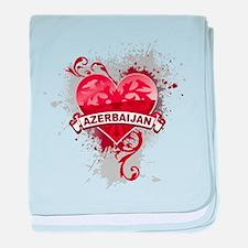 Heart Azerbaijan baby blanket