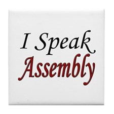 """I Speak Assembly"" Tile Coaster"