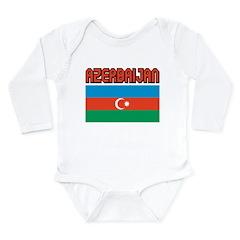 Azerbaijan Flag Long Sleeve Infant Bodysuit