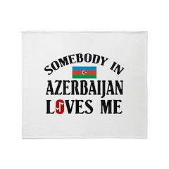 Somebody In Azerbaijan Throw Blanket
