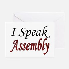 """I Speak Assembly"" Greeting Cards (Pk of 10)"