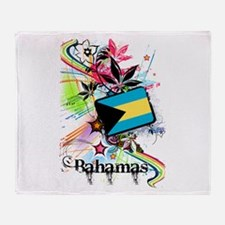 Flower Bahamas Throw Blanket