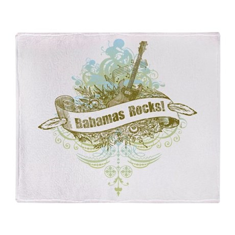 Bahamas Rocks Throw Blanket