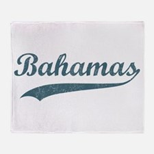 Vintage Bahamas Throw Blanket