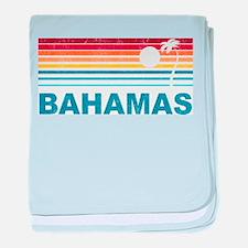 Retro Bahamas Palm Tree baby blanket