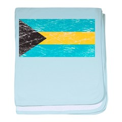 Vintage Bahamas Flag baby blanket