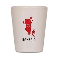 Map Of Bahrain Shot Glass