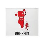 Map Of Bahrain Throw Blanket