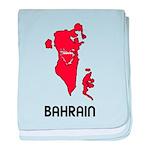 Map Of Bahrain baby blanket