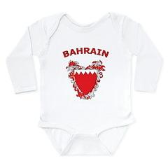 Bahrain Long Sleeve Infant Bodysuit